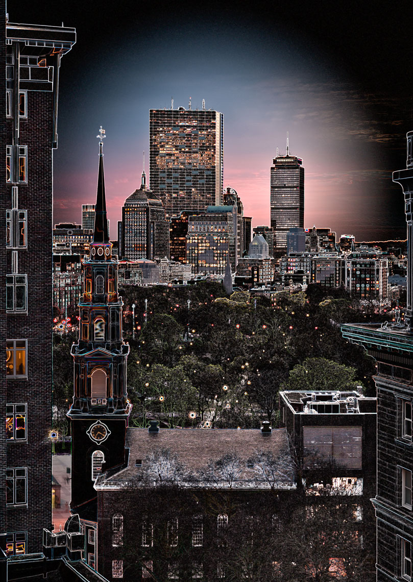 Boston Common | Downtown Boston | digital art