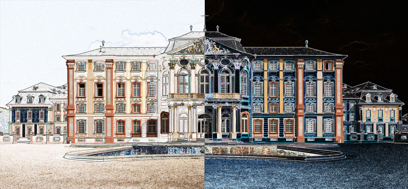 Bruchsal Palace | Germany | digital art