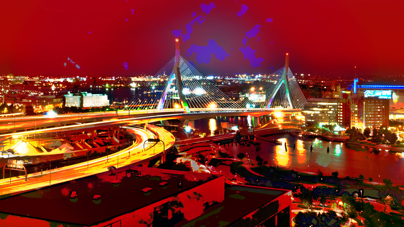 Bunker Hill Memorial Bridge | Boston | digital art