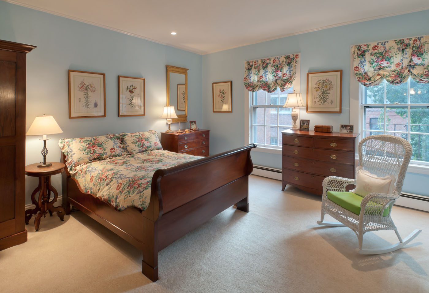 Interior of bedroom | Beacon Hill | Boston MA