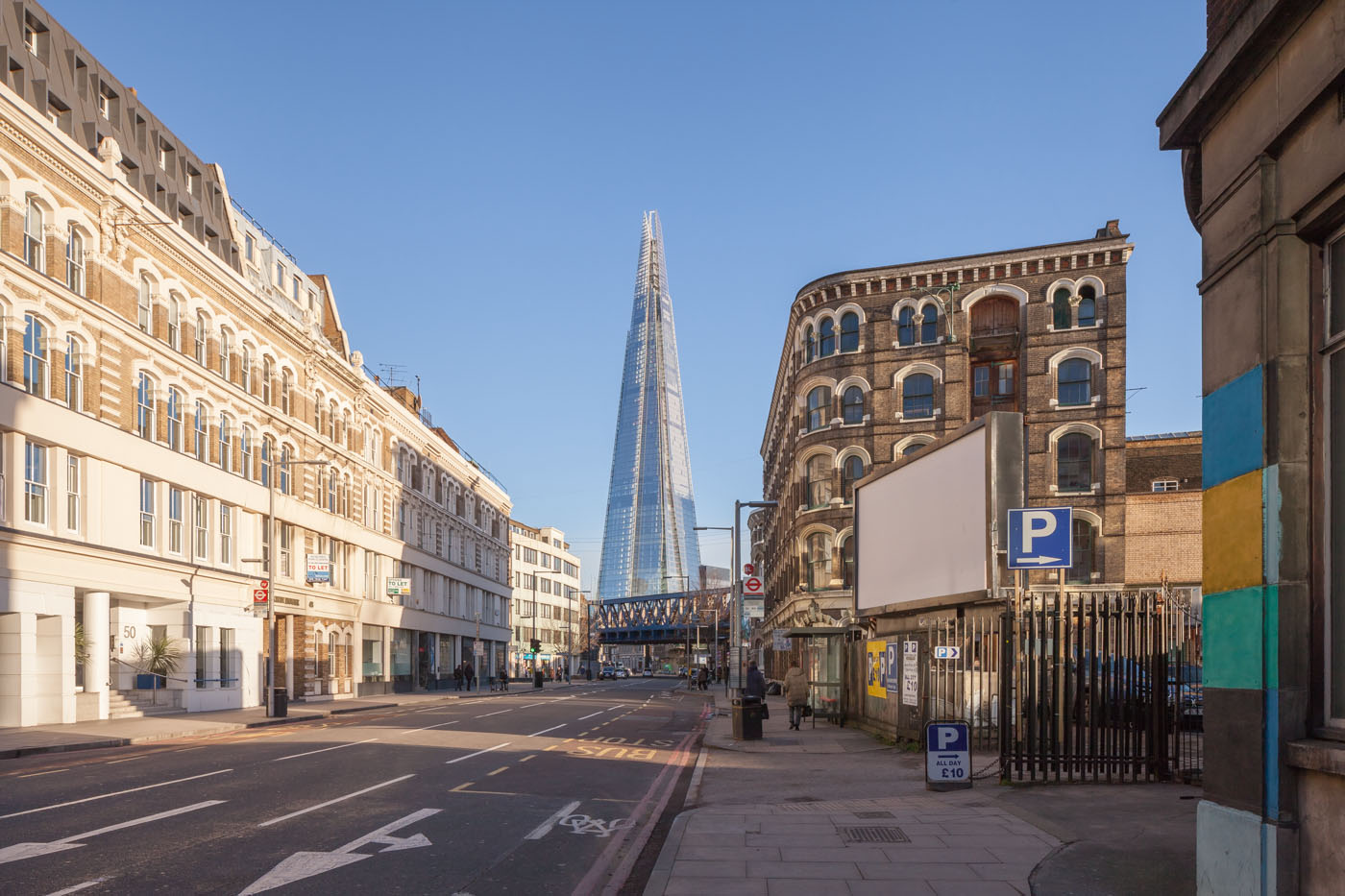 Southwark St | view on The Shard